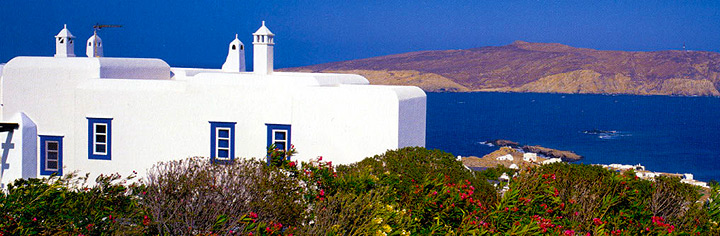 Cycladic architecture house