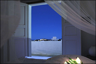 Geranium Guestroom View At Night