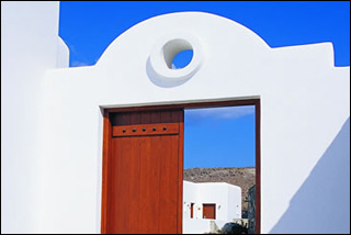 Mykonos Grand Resort Hotel Entrance