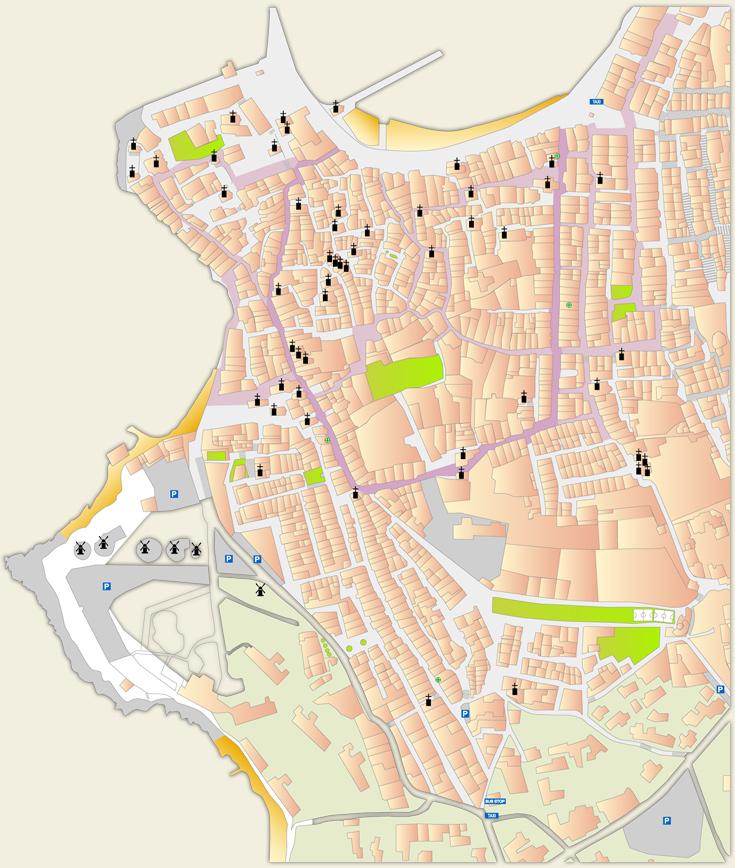 Mykonos map Delos map Mykonos town map